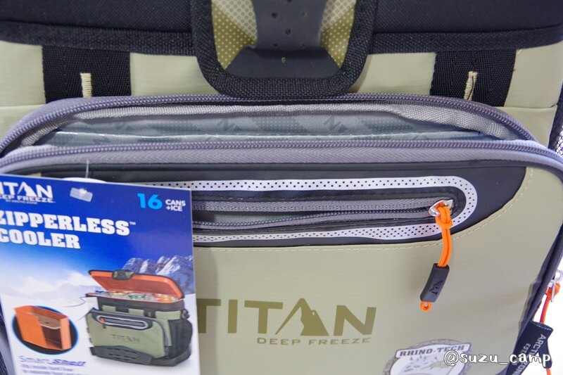 titan cooler 正面ポケット